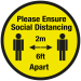 Please keep your 2 metre social distancing floor sign