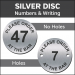 Silver Please order at the Bar Engraved Table Number Discs