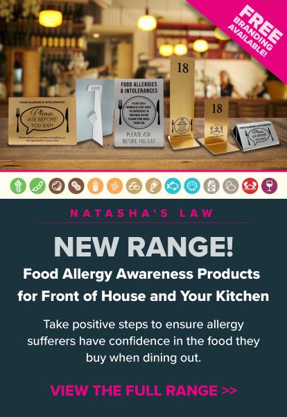 New Allergy Awareness Range