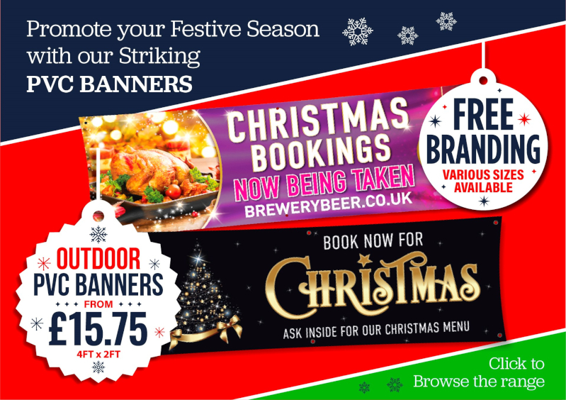 christmas banners & posters