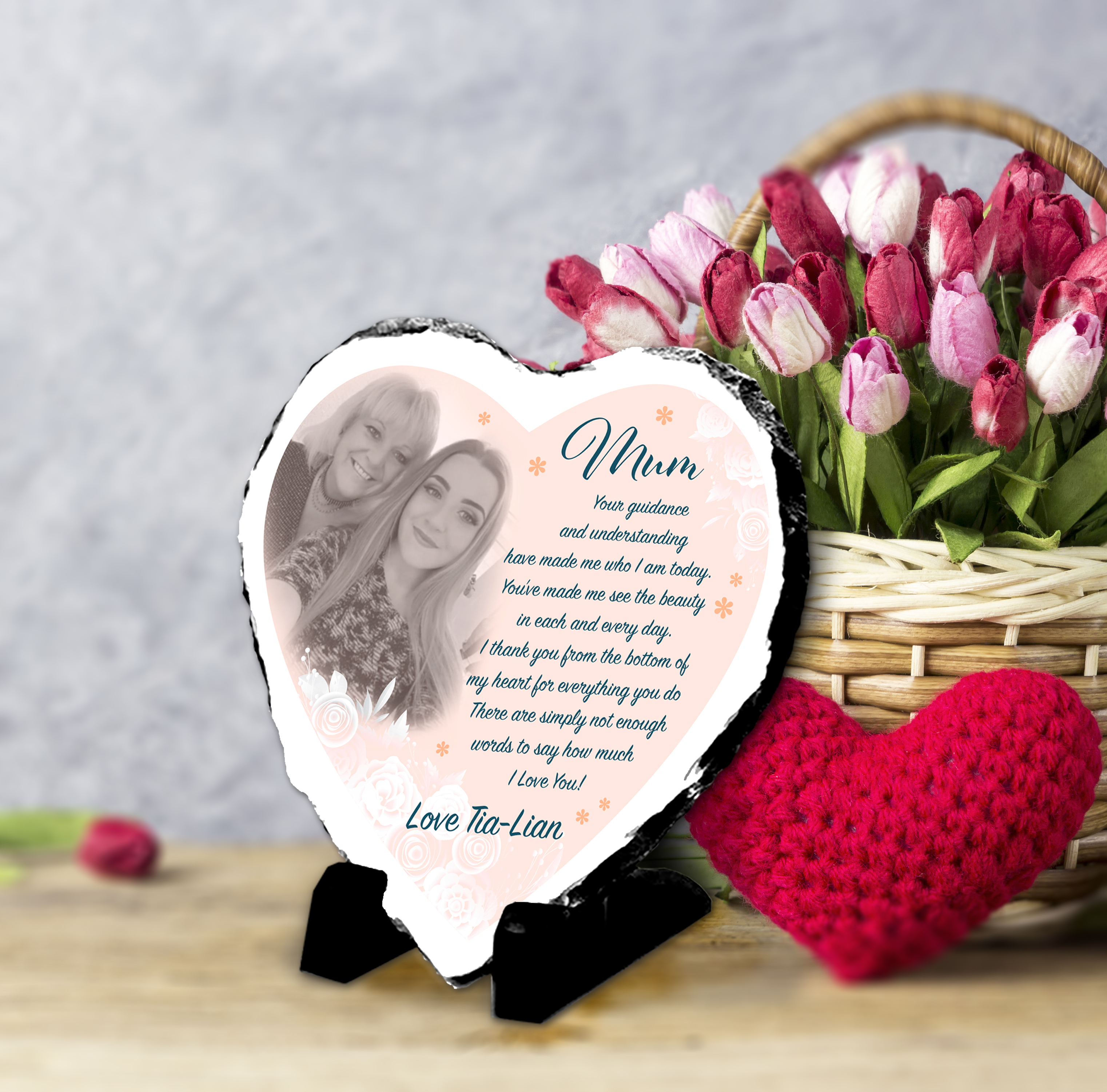 Mothers Day Gift Photo and Message Slate Gift