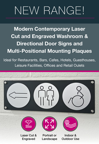 Washroom Door & Directional Signs