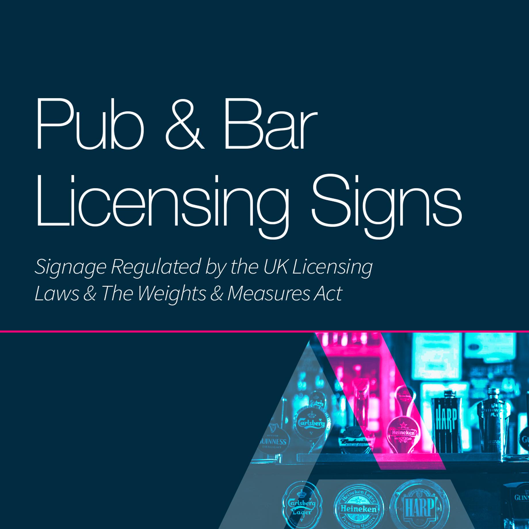Pub licensing signs