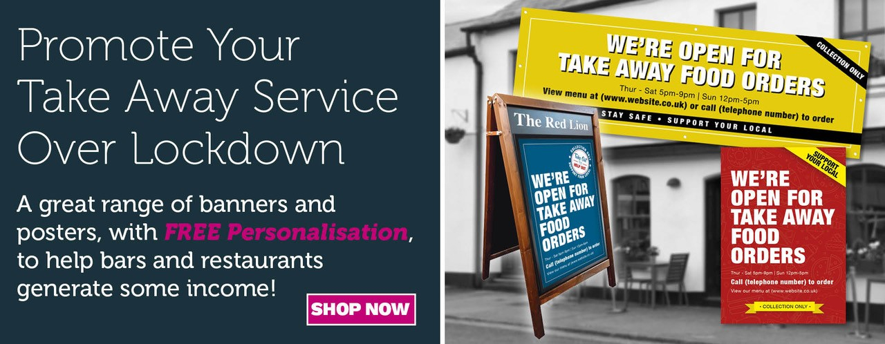 Take Away Food Service banners & Posters