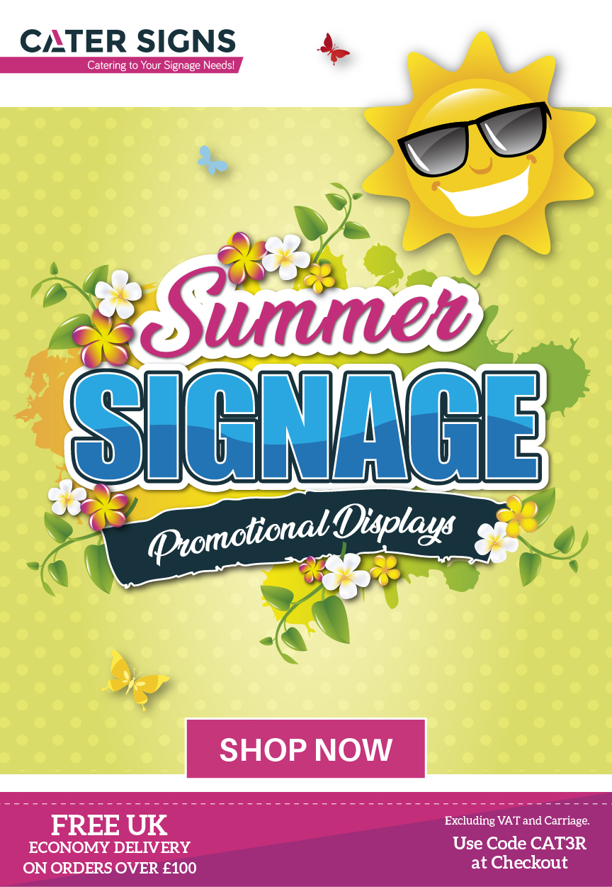 summer signage promotional displays