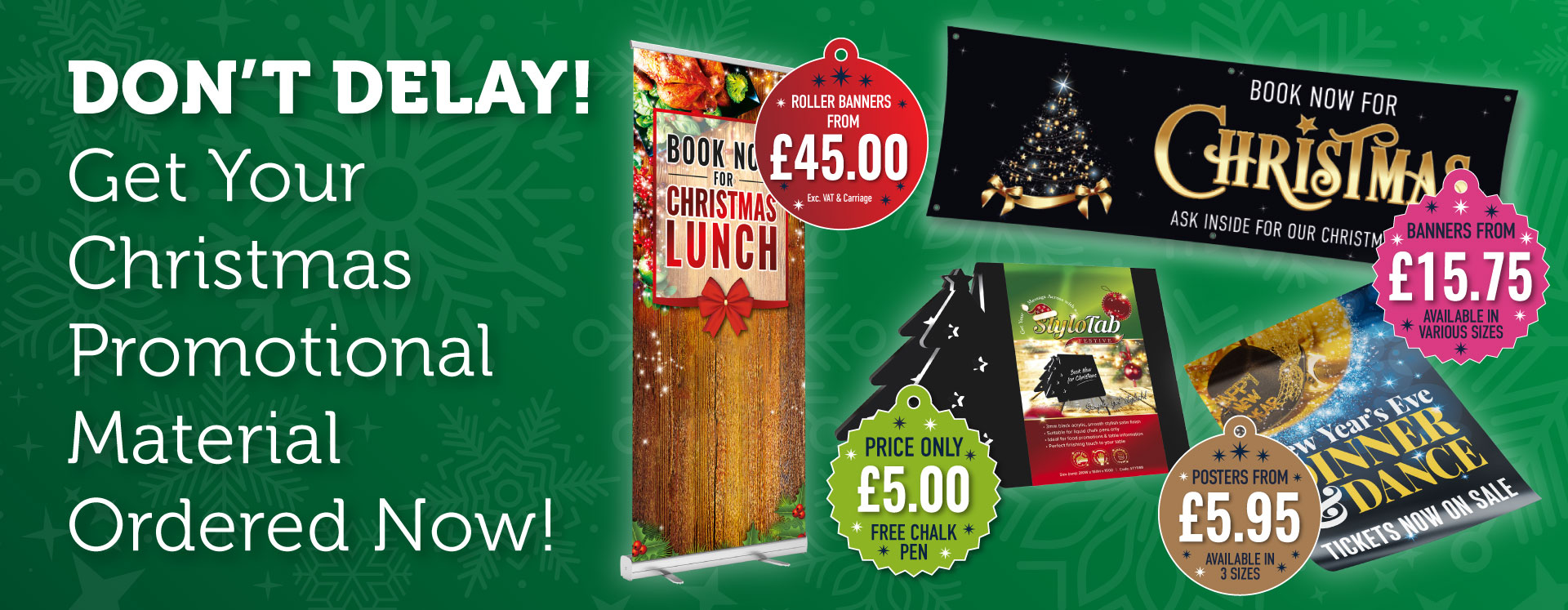 Get Your Christmas Promotional Material Now