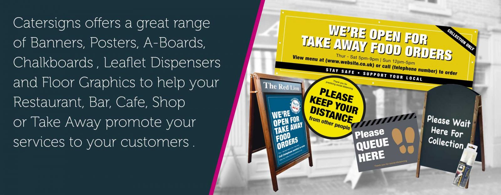Help Promote Your Delivery, Take Away or Click & Collect Service